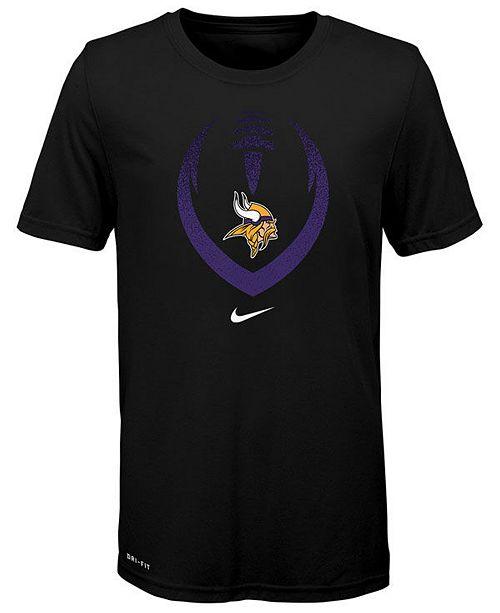 Nike Big Boys Minnesota Vikings Football Icon T-Shirt