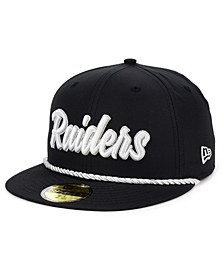 Oakland Raiders On-Field Sideline Home 59FIFTY Fitted Cap