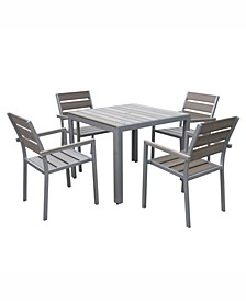 Distribution Gallant 5 Piece Sun Bleached Outdoor Dining Set