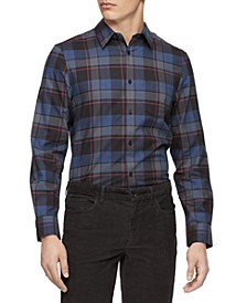Men's Plaid Slim-Fit Shirt
