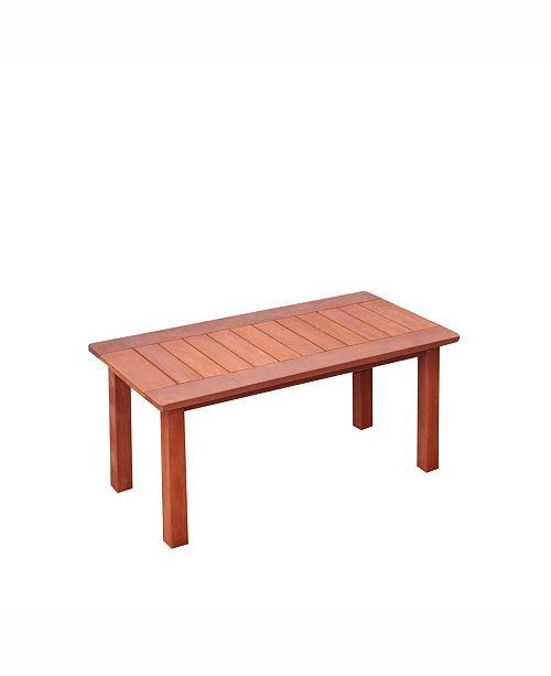 Corliving Distribution Miramar Hardwood Outdoor Coffee Table