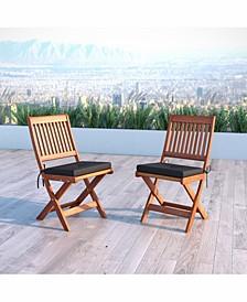 Distribution Miramar Hardwood Outdoor Folding Chairs, Set of 2