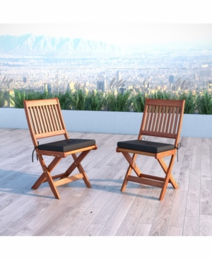 Corliving Distribution Miramar Hardwood Outdoor Folding Chairs, Set of 2 -  PEX-369-C