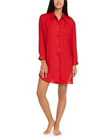 Women's Bardot Satin Sleep Shirt