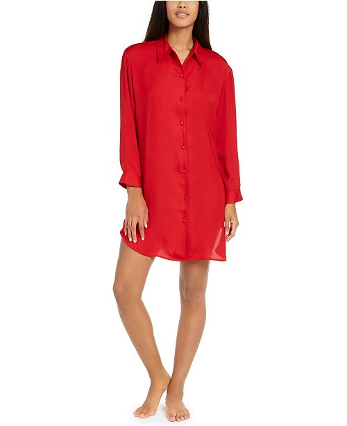 Josie Women's Bardot Satin Sleep Shirt