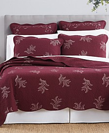 CLOSEOUT! Stenciled Leaves Full/Queen Quilt, Created for Macy's