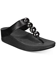 Francheska Glitzy Toe-Thong Sandals
