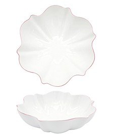Amelie Roseate Rim Serving Bowl