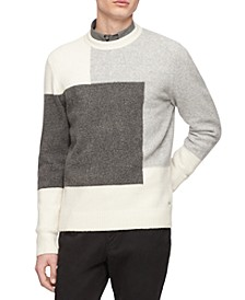 Men's Colorblocked Textured Sweater
