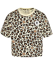 Big Girls Cotton Leopard-Print T-Shirt