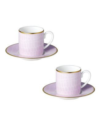 Layla Espresso Cups Saucers - Set of 2
