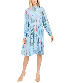 Silk Printed Shirtdress