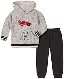 Little Boys 2-Pc. Back Seat Driver Race Car Hoodie & Fleece Pants Set