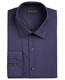 Alfani Men's AlfaTech Slim-Fit Performance Stretch Geo-Print Dress Shirt, Created For Macy's