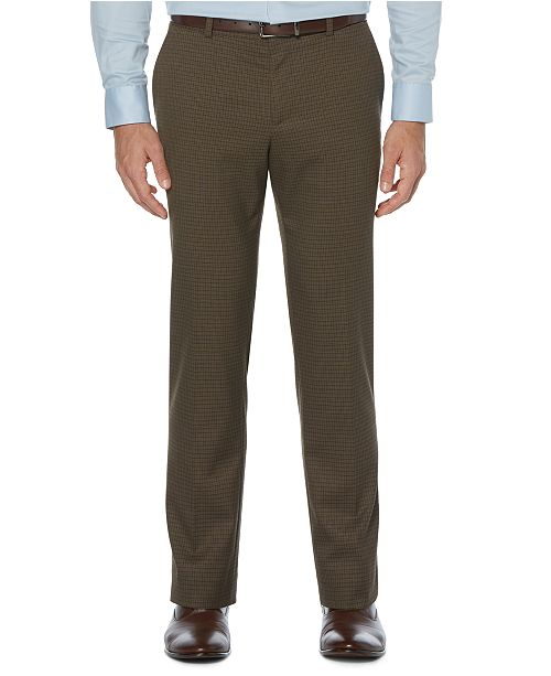 Perry Ellis Men's Houndstooth No-Iron Slim-Fit Suit Pants