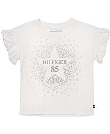 Toddler Girls Cotton Flutter-Sleeve T-Shirt