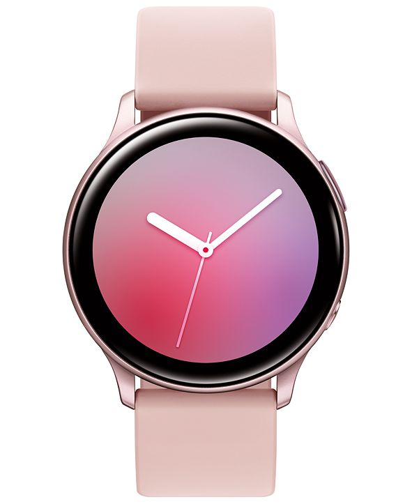 Samsung Galaxy Active 2 Blush Silicone Strap Touchscreen Smart Watch 40mm
