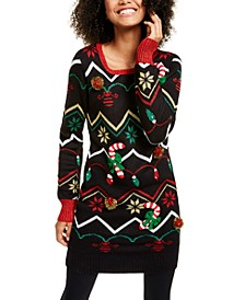 Juniors' Holiday Tunic Sweater
