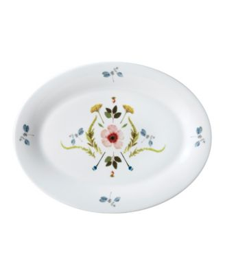 """Scandinavian Floral 14"""" Oval Platter"""