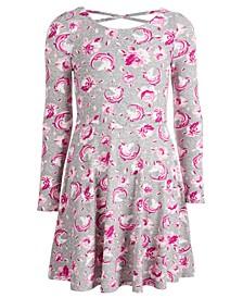 Big Girls Unicorn & Floral-Print Dress, Created For Macy's