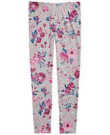 Big Girls Floral-Print Leggings, Created For Macy's