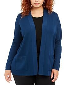 Plus Size Open-Front Cardigan