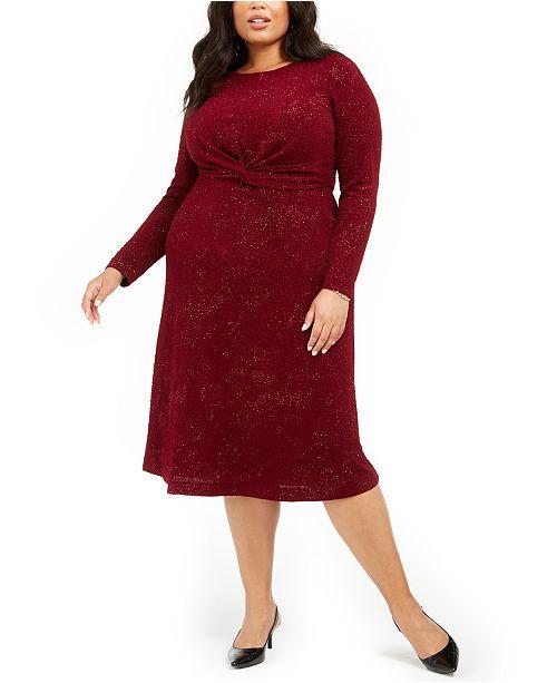 Plus Size Twist-Waist Dress, Created For Macy\'s