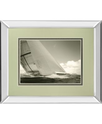 "Sea Spray I by Michael Kahn Mirror Framed Print Wall Art - 34"" x 40"""