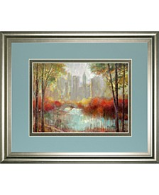"City View by Ruane Manning Framed Print Wall Art - 34"" x 40"""