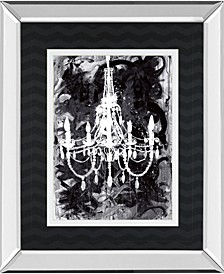 "Chandelier Black and White by Kent Youngstrom Mirror Framed Print Wall Art - 34"" x 40"""