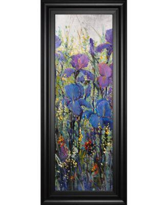 """Iris Field Il by Tim Otoole Framed Print Wall Art - 18"""" x 42"""""""