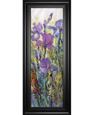 """Iris Field I by Tim Otoole Framed Print Wall Art - 18"""" x 42"""""""
