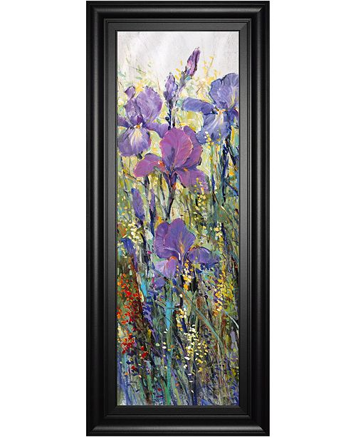 Classy Art Iris Field I By Tim Otoole Framed Print Wall Art 18 X 42 Reviews All Wall Décor Home Decor Macy S