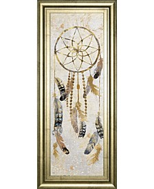 "Tribal Dreamcatcher by Nan American Indian Mirrored Framed Print Wall Art - 18"" x 42"""