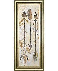 "Tribal Arrows by Nan American Indian Mirrored Frame Print Wall Art - 18"" x 42"""