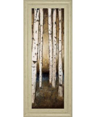 "Birch Landing III by St Germain Framed Print Wall Art - 18"" x 42"""