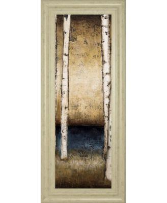 """Birch Landing II by St Germain Framed Print Wall Art - 18"""" x 42"""""""