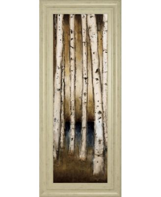 "Birch Landing I by St Germain Framed Print Wall Art - 18"" x 42"""