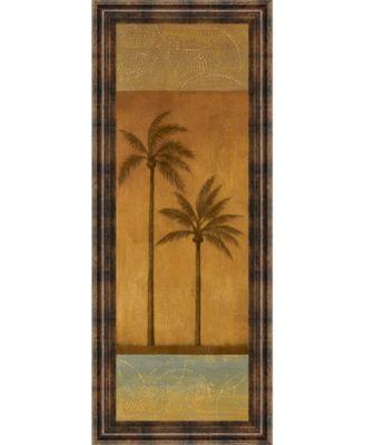 "Golden Palm Il by Jordan Grey Framed Print Wall Art - 18"" x 42"""