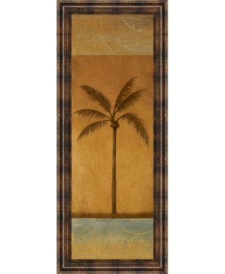 "Golden Palm I by Jordan Grey Framed Print Wall Art - 18"" x 42"""