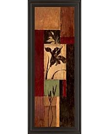"Iris Shadow by Maria Donovan Framed Print Wall Art - 18"" x 42"""
