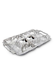 Designs Aluminum Grape Entertainment Tray 4 Sections