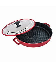 Stovetop Oven Grill Pan with Heat-In Steam-Out Lid, 12""