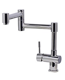 Solid Polished Stainless Steel Retractable Single Hole Kitchen Faucet
