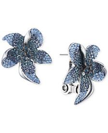 Pavé Flower Button Earrings