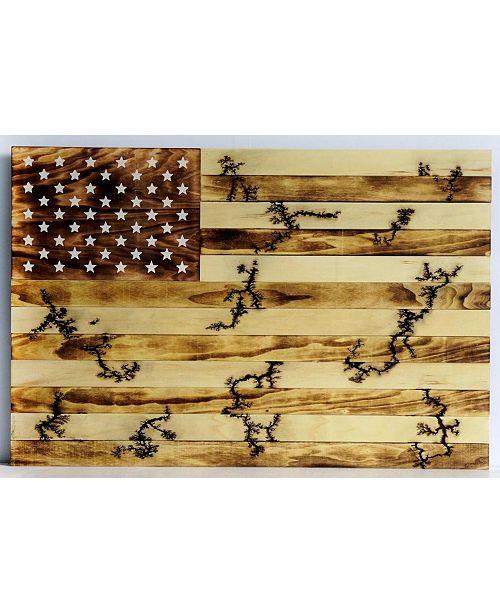 TX USA Corporation Flag Wall Art