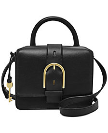 Fossil Wiley Top Handle Leather Satchel