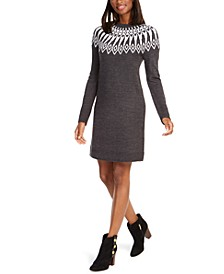 Fair Isle Sweater Dress, Created For Macy's