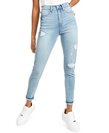 Ultra High Rise Destructed Skinny Jean