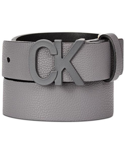 Calvin Klein Big Boys Pebble Leather Belt